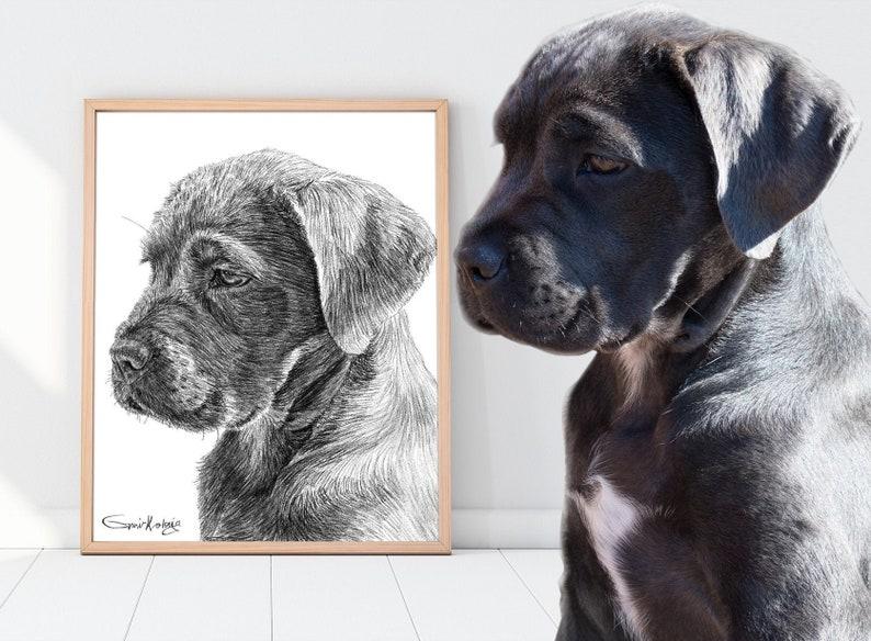 Custom Pet Portrait  Custom Dog Portrait Digital download image 0