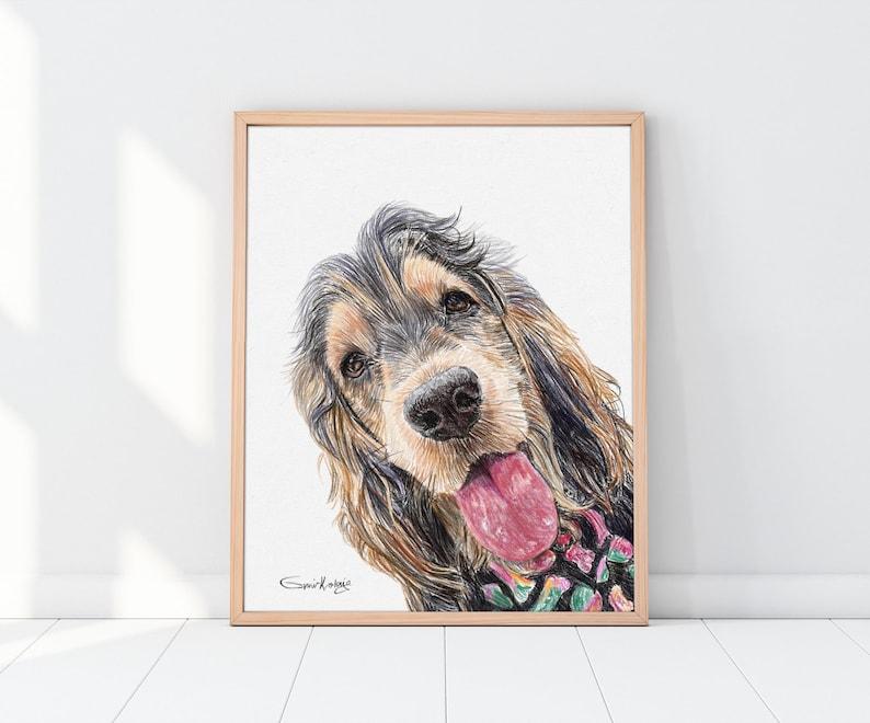 Peekaboo pet portrait Pet Portrait Custom Custom Pet image 0