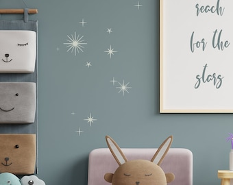Star Twinkle Wall Stickers, Various Colours to choose from, Multiple pack sizes or request a custom order to suit your needs.