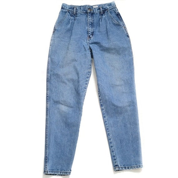 Vintage pleated high rise mom jeans bill blass