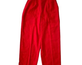 Red crop pant vintage deadstock Sag Harbor 8