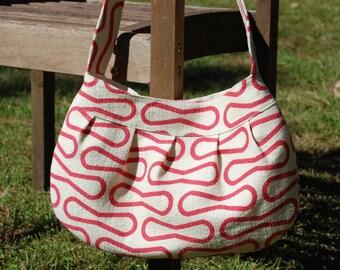 Organic Red Retro-Modern Buttercup Bag, Purse, Handbag