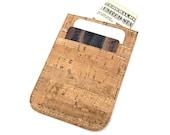 Sustainable Cork Front Pocket Wallet, Credit Card Holder