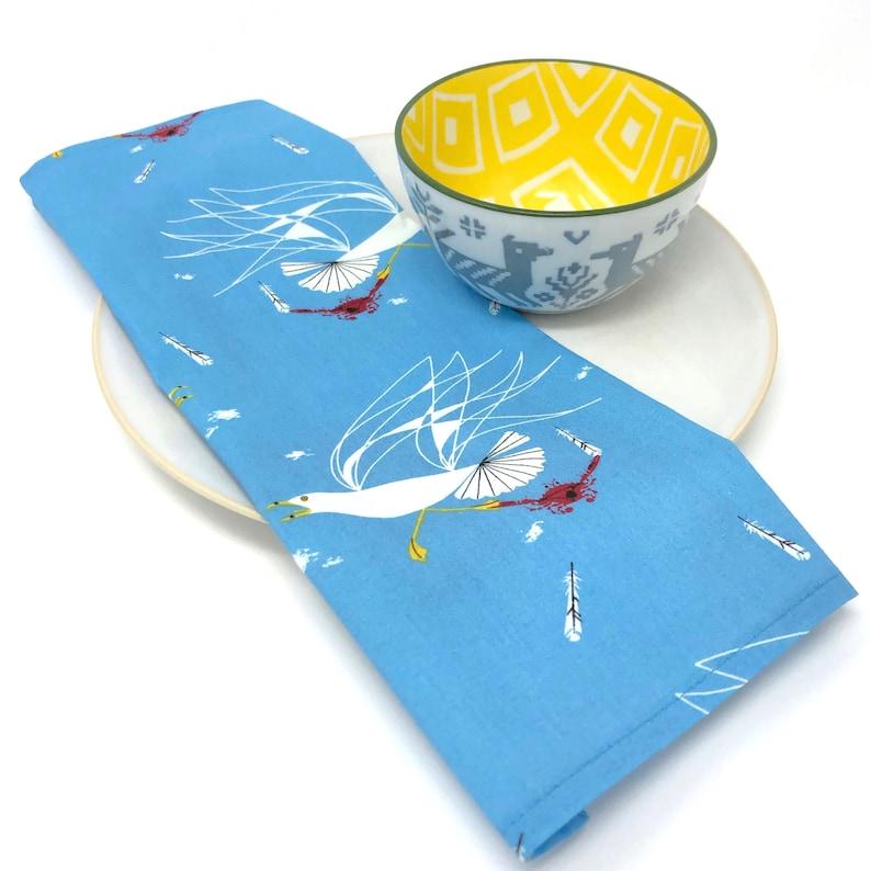 Organic Charley Harper Seagull /& Crab Cloth Napkins Set of 4