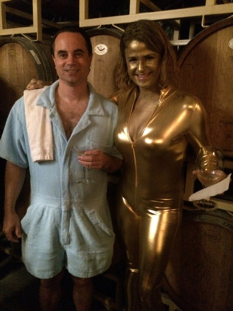 James Bond Goldfinger Romper Terry Man Kostüm Taschen Etsy