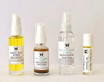 Clear Skin COLLECTION   Spot Treatment   Acne Prone Skin   Acne Treatment   Toner   The Struggle is Real   Charcoal Cleanser   Gift set