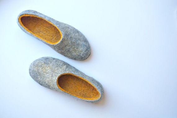 wool slippers gift for her house shoes with leather soles etsy