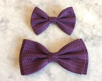 5b1f7e2db317 Purple Bow Tie, Purple Print Bow Tie, Purple Bowtie, Plum Bow Tie, Easter Bow  Tie, Mens Bow Tie, Boys Bow Tie, Clip-on Bow Tie