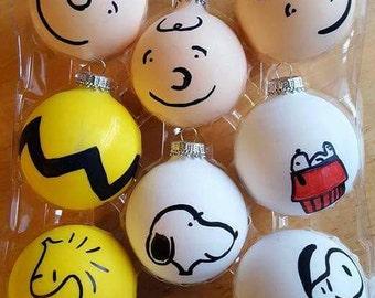 8 Peanuts Christmas Ornaments