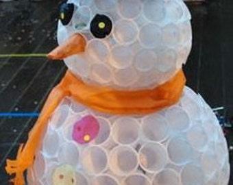 Dixie cup Snowman