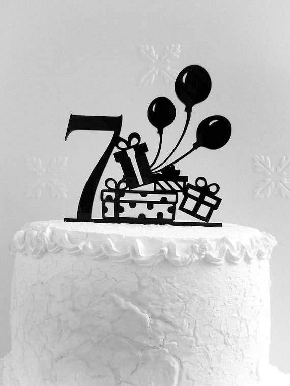 7th Birthday Cake Topper Seventh Birthday Cake Topper Etsy