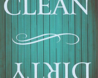Clean or Dirty Dishes, Magnet,     NEW LARGER SIZE!!