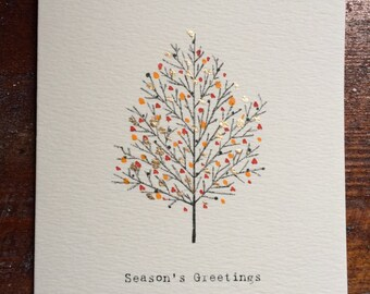 Beautiful, stylish hand-crafted Christmas cards  (set of 10 - mixed as desired)