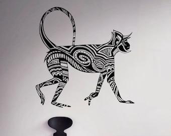 Monkey Wall Decal Ape Marmoset Vinyl Sticker Animals Wall Art Decor Home Interior Room Office Design 10 etn