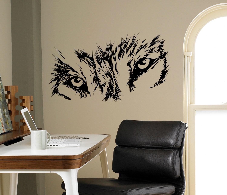 Wolf Eyes Wall Decal Beast Wild Animal Vinyl Sticker Home Etsy