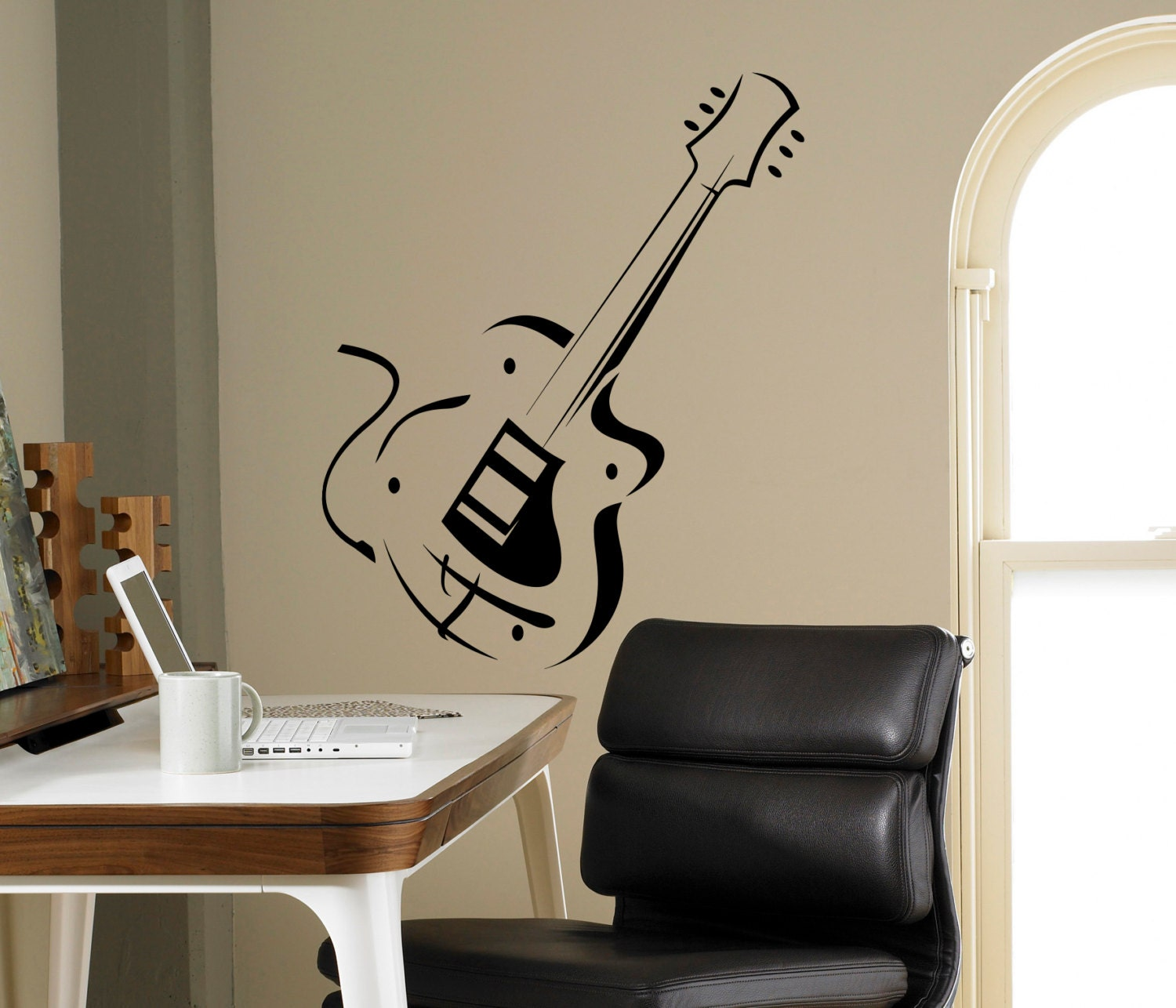 Electric Guitar Wall Decal Music Vinyl Sticker Instrument Home Etsy