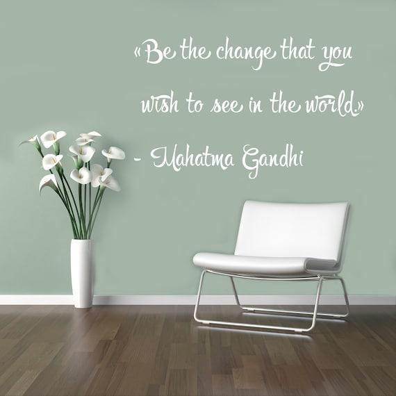 Motivazionali Citazioni Mahatma Gandhi Parete Vinile Decal Filosofia Wall Sticker Iscrizione Home Decor Housewares Decalcomanie Personalizzate 4 Qfm
