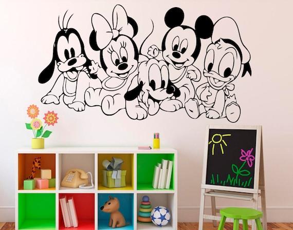 Vinilos Mickey Mouse Para Pared.Mickey Mouse Pared Calcomania Disney Dibujos Animados Vinilo Pegatina Pared Arte Decor Home Interior Ninos Guarderia Sala De Diseno 13 Mik