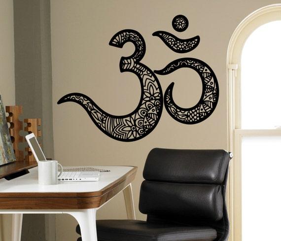 OM Mantra Wand Vinyl Aufkleber Indische Religion Wand | Etsy