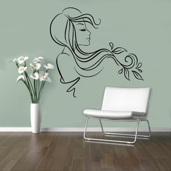 hair salon vinyl decal beauty salon wall sticker shop window | etsy