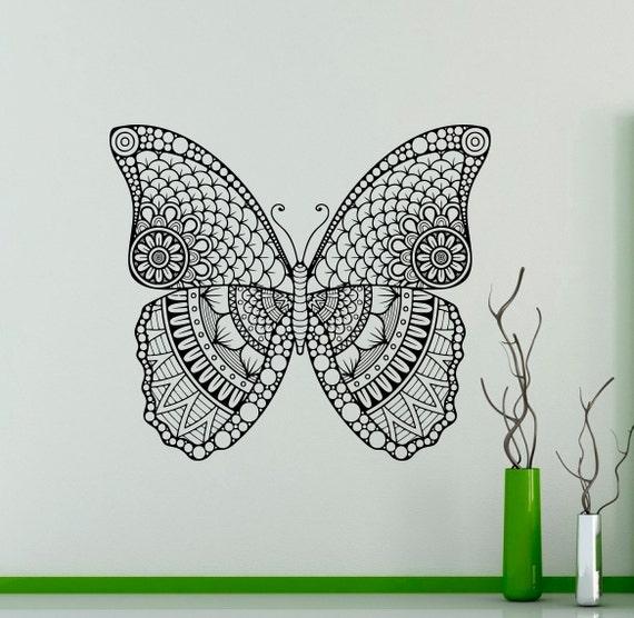 cute butterfly wall vinyl decal butterfly wings wall sticker | etsy