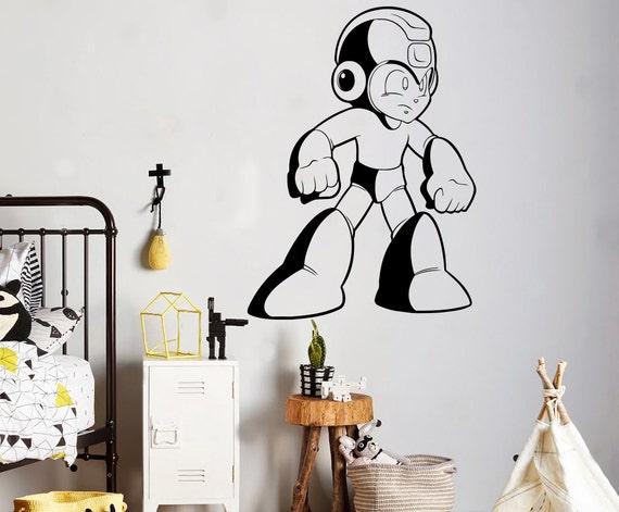 MEGA MAN Decal Removable WALL STICKER Decor Art Megaman Video Game Room Kids