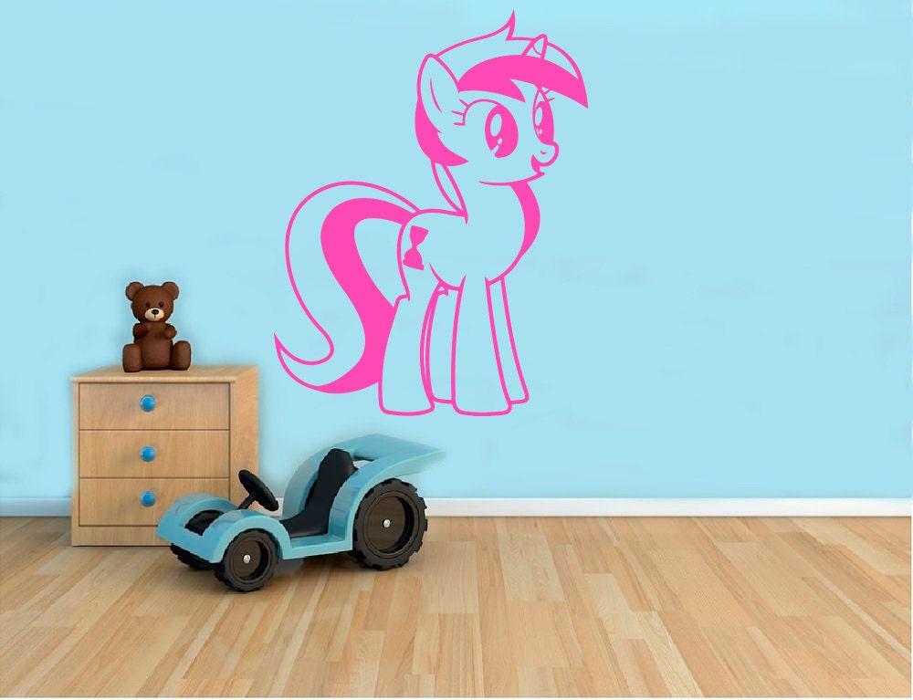 My Little Pony Wall Decal Cartoon Pony Vinyl Sticker Wall Art Etsy
