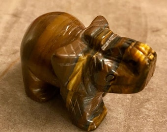 Personalised imitation tiger eye elephant keyring handbag charm pouch BR498