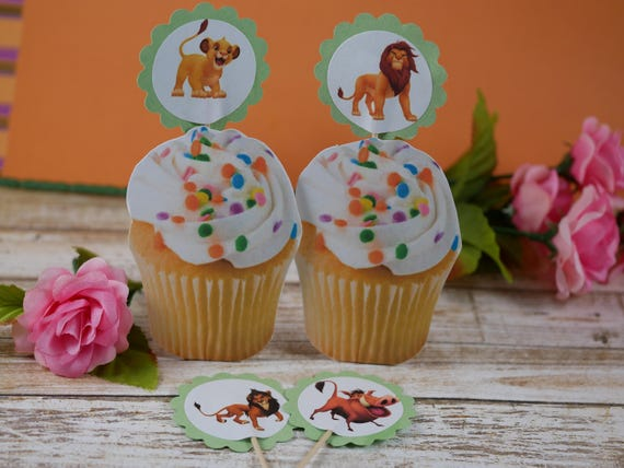 Fabulous The Lion King Cupcake Toppers Cupcake Picksthe Lion King Etsy Funny Birthday Cards Online Barepcheapnameinfo