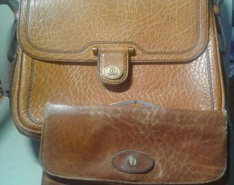 Caracciola 1970's leather purse and matching wallet