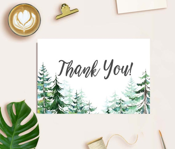 Wedding Thank You Cards Thank You Card Printable Rustic Etsy