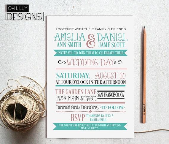 Toll Moderne Einladung Hochzeit Hochzeit Einladung Hochzeit