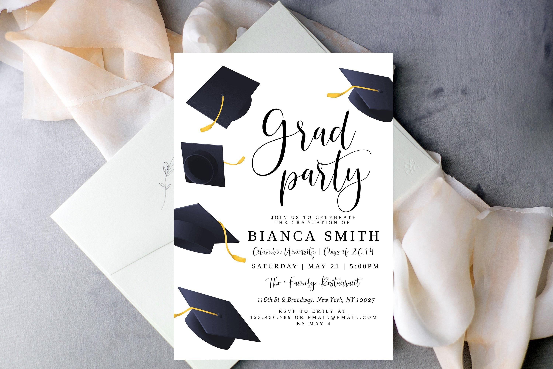 Graduation Invitation Template INSTANT DOWNLOAD High School College Announcement