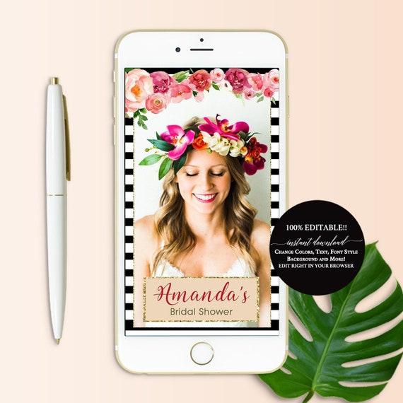 kate spade snapchat filter bridal shower custom geofilter | etsy