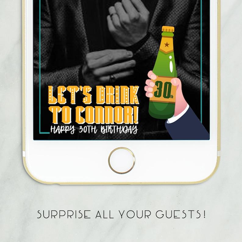 Verkoop Mannen Verjaardag Snapchat Geofilter Bier Verjaardag Etsy