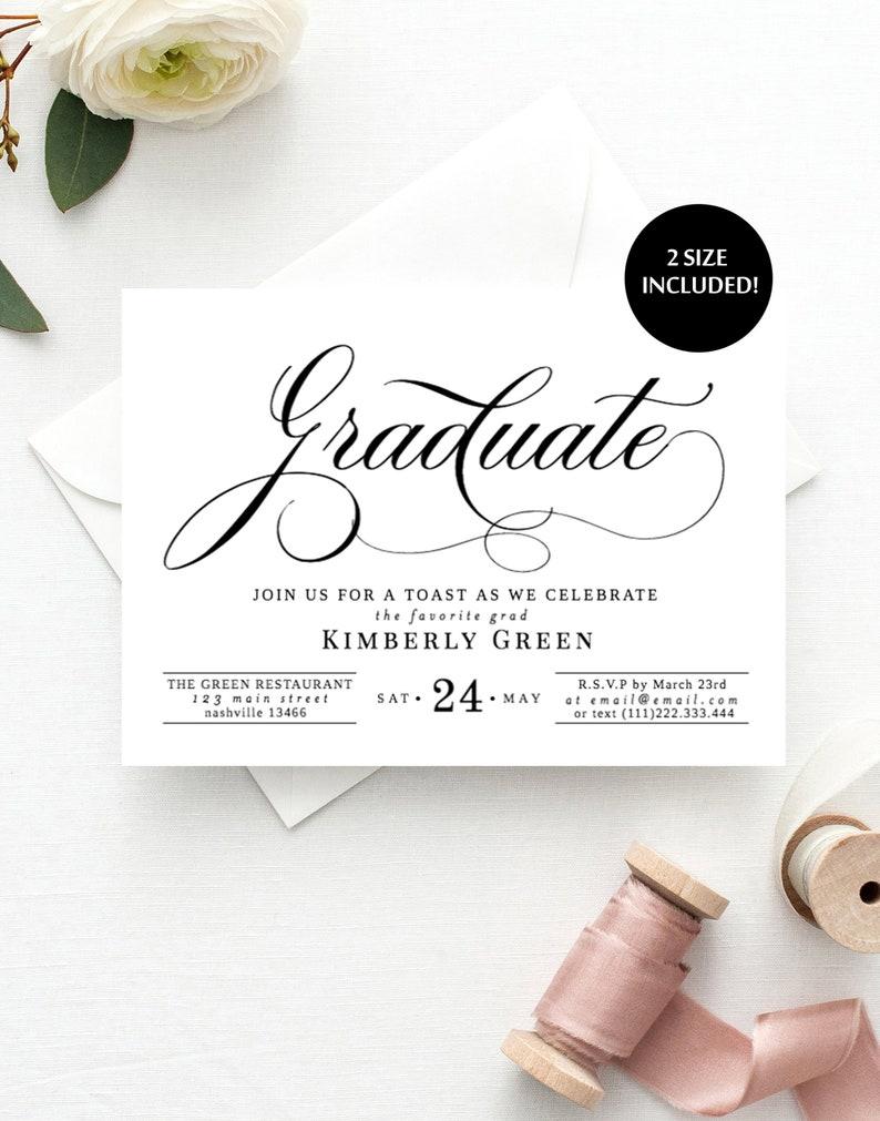 Graduation Party Invitations Template Invitation Printable 100 EDITABLE Instant Download Editable Dinner