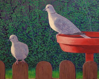 Two Doves - Painting
