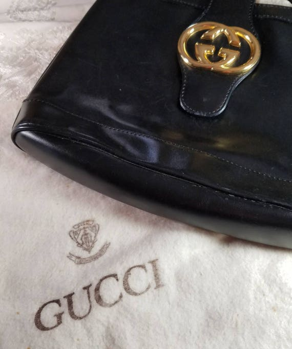 2fb7d5be51b Authentic Gucci Designer Leather Handbag   Authentic   1970