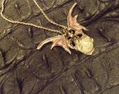 Dragon Pendant Vampire  Bat Italian Fantastic Vintage 925 Sterling Silver Vampire  Bat Italian Dragon Pendant
