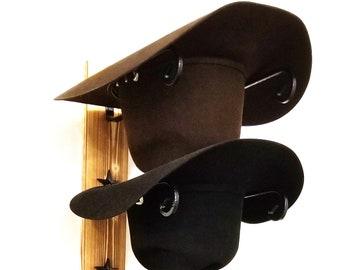 Cowboy Hat Holder STAR American Made Charred Wood 5 1f324204b7cd