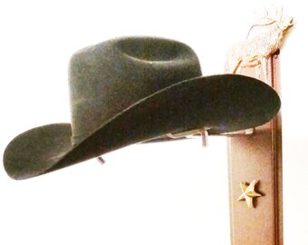 f64f7bfa916 Cowboy Hat Holder Elk Rust with Gold Stars 893