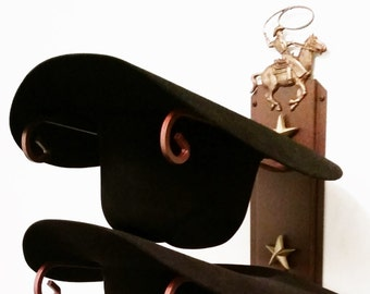 ef87cb62719 American Made Cowboy Hat Holder Cowboy Roper Rust with Gold Stars