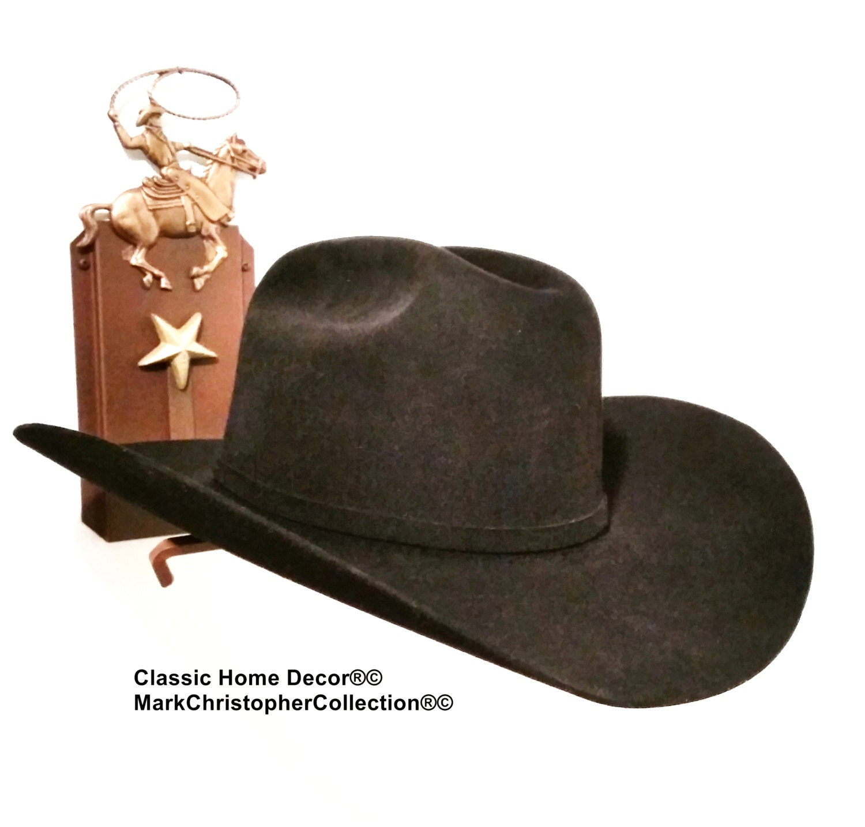 7f448511792 Cowboy Hat Holder Rust with Roper Brim Up 891Bronc