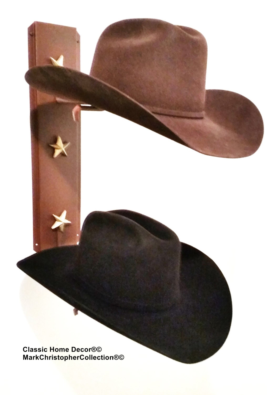 ce990ee9b61 Cowboy Hat Holder Rust with Gold Stars 892