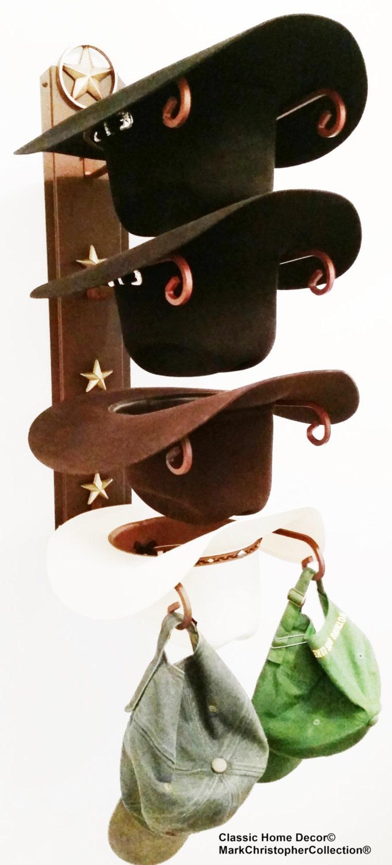 Support chapeau de cowboy avec Lone Star rouille avec des  0dc74838f4f