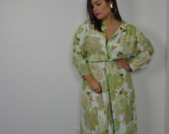 Nina Piccalino 80s Floral Dress Size 8
