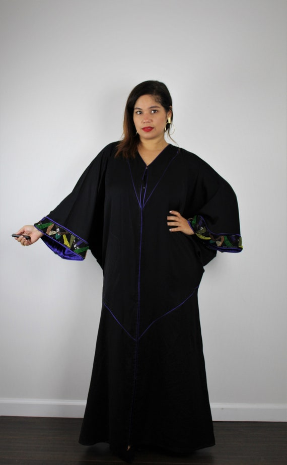 Unique 20's Style Dolman Sleeve Duster Button Up K