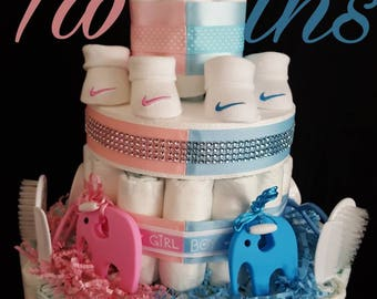 twin diaper cake etsy