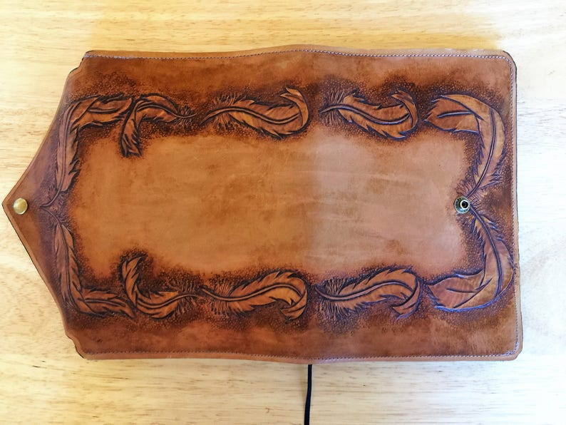 Leather Journal Hand Tooled Quality veg tanned leather Custom Leather Notebook