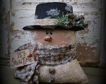 Primitive Snowman Christmas Frosty Pin Doll Paper Pattern 544